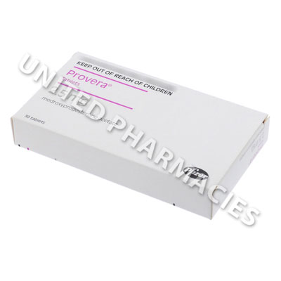 Provera (Medroxyprogesterone Acetate) - 2.5mg (30 Tablets) Image1